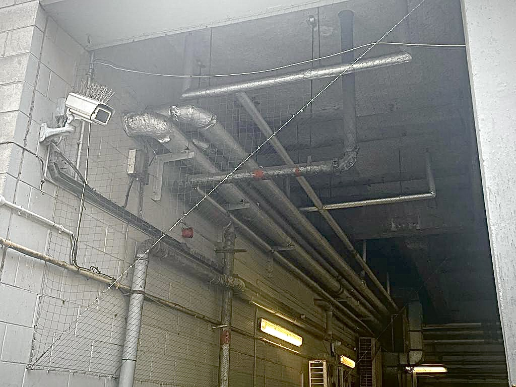 Netting Off Of Duct Piping